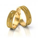 Złote obrączki ślubne Stelmach St189