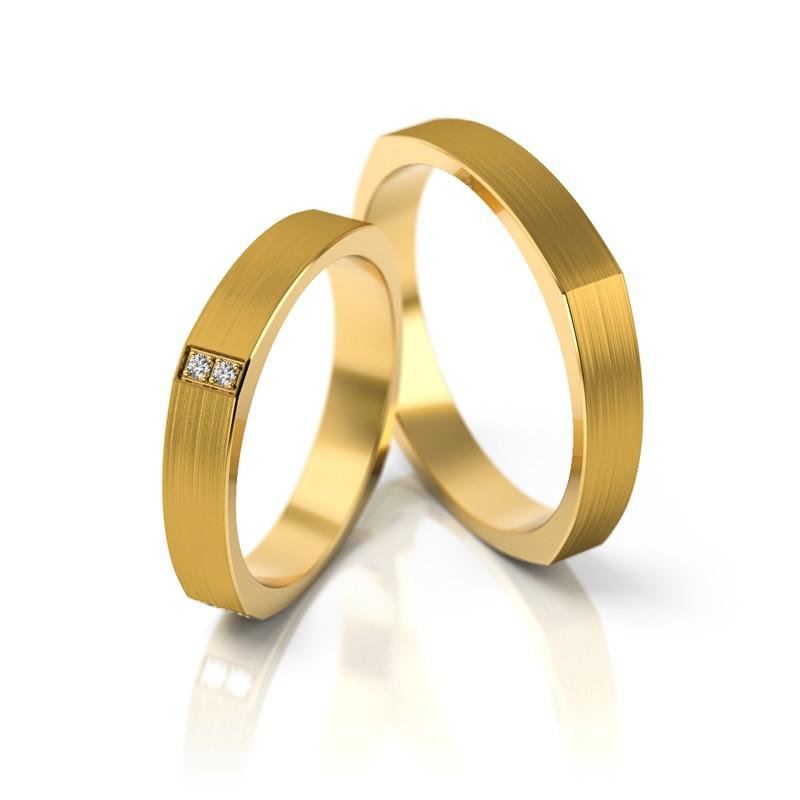 Złote obrączki ślubne Stelmach St 192
